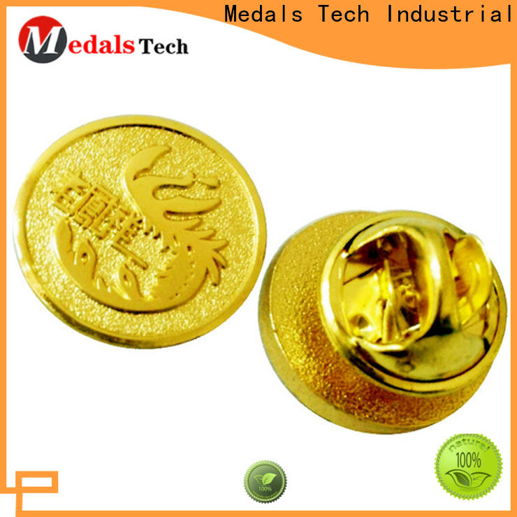 Medals Tech gold quality lapel pins design for woman