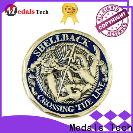 Medals Tech plated sport challenge coins personalized for games
