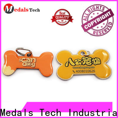 shinny large dog tags for pets plated customized for adults