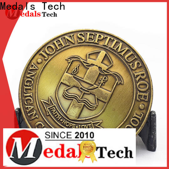 Medals Tech logo unit challenge coins factory price for add on sale