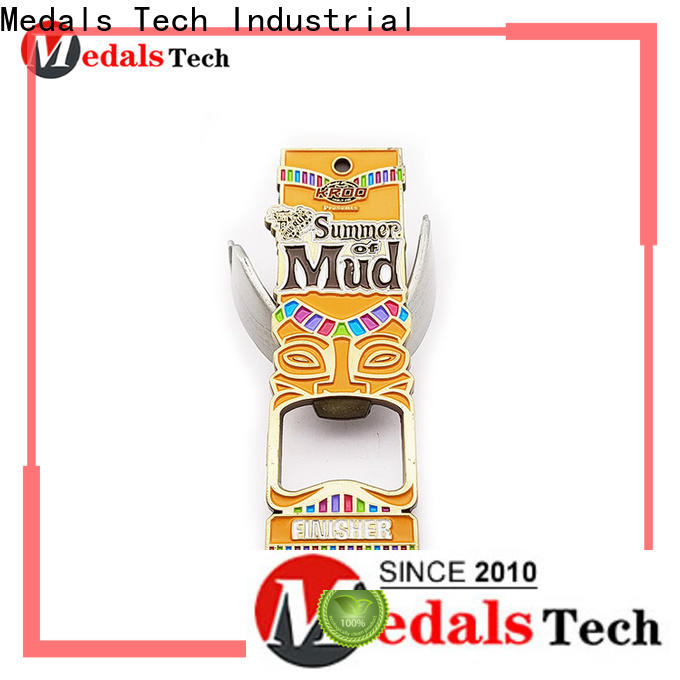 Medals Tech round stainless steel bottle opener customized for commercial