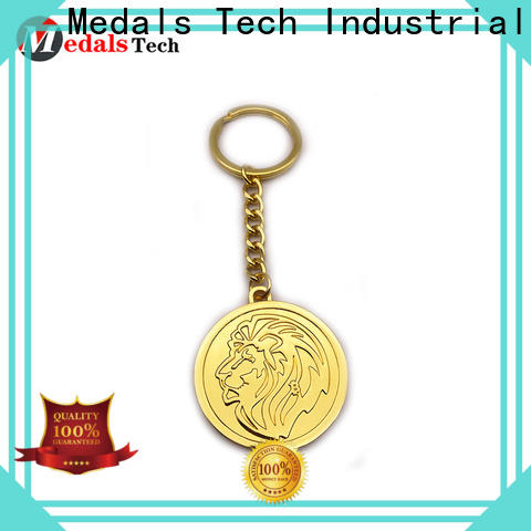 Medals Tech New metal promotional keychains suppliers for add on sale