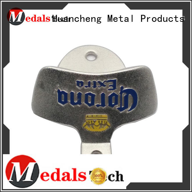 shape promotional custom bottle openers wrench mounted Huancheng company