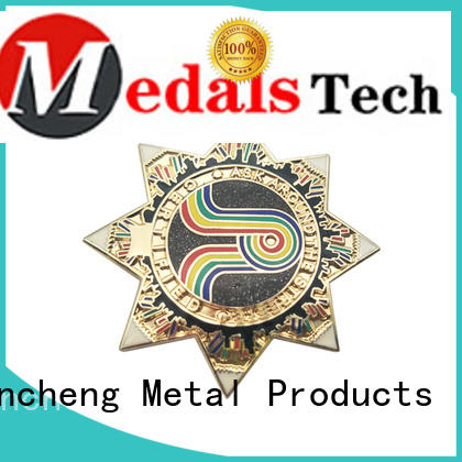 Huancheng Brand filled plated custom lapel pins color factory