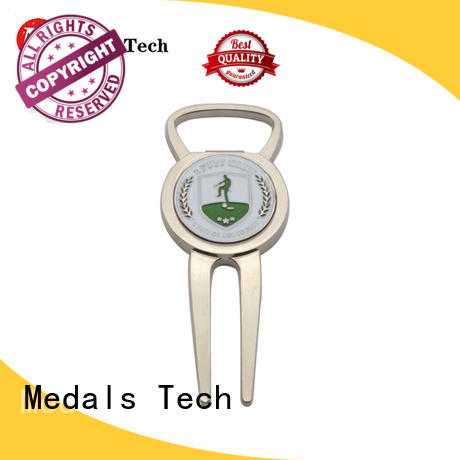 Medals Tech silver divot tool ball marker factory for add on sale