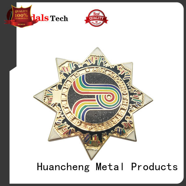 suit accessories lapel pins stainless metal filled Huancheng Brand custom lapel pins
