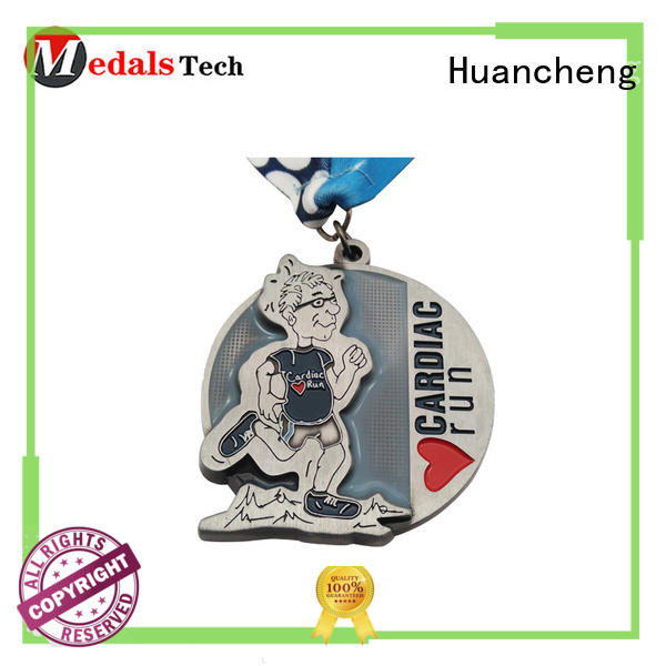 Huancheng Brand matte sport metal medal marathon factory
