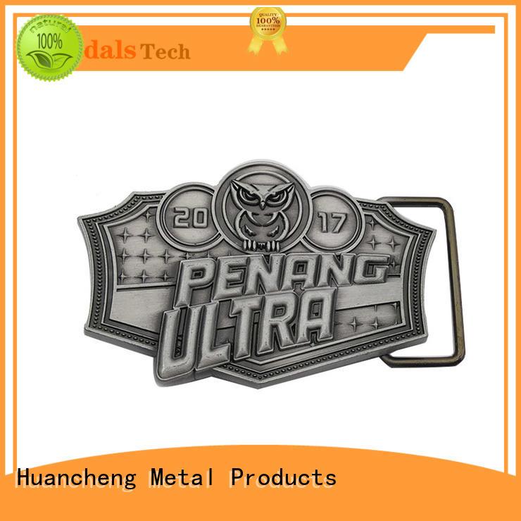Wholesale silver rock belt buckle Huancheng Brand
