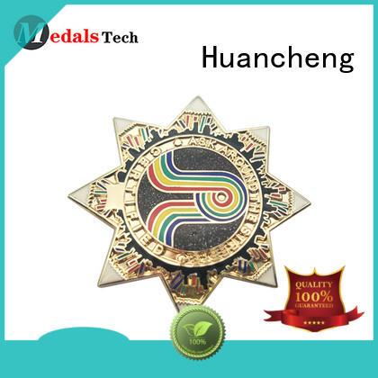 cartoon plated OEM custom lapel pins Huancheng