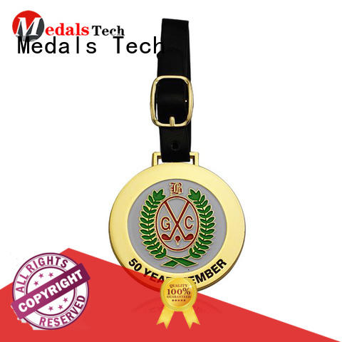 Medals Tech round disc golf bag tags customized for woman