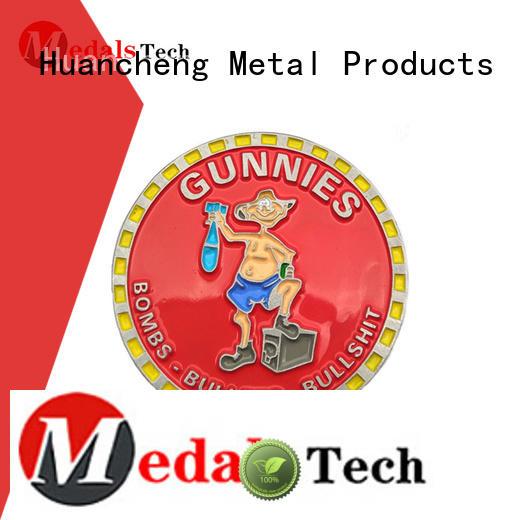 Custom hard enamel challenge coin offset printing Huancheng
