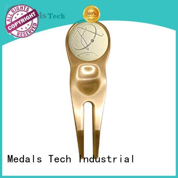 Medals Tech shinny personalized golf divot tool with good price for add on sale
