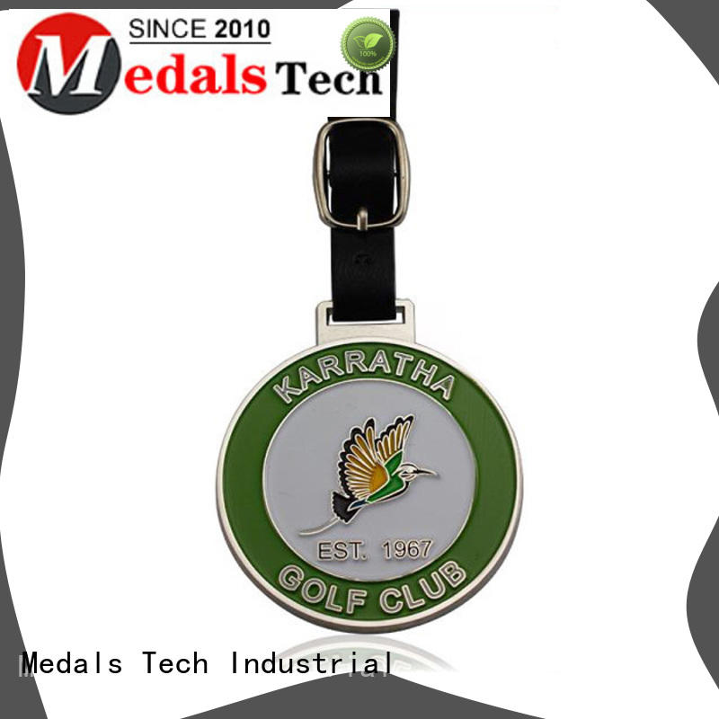 round blank golf bag tags personalized for woman