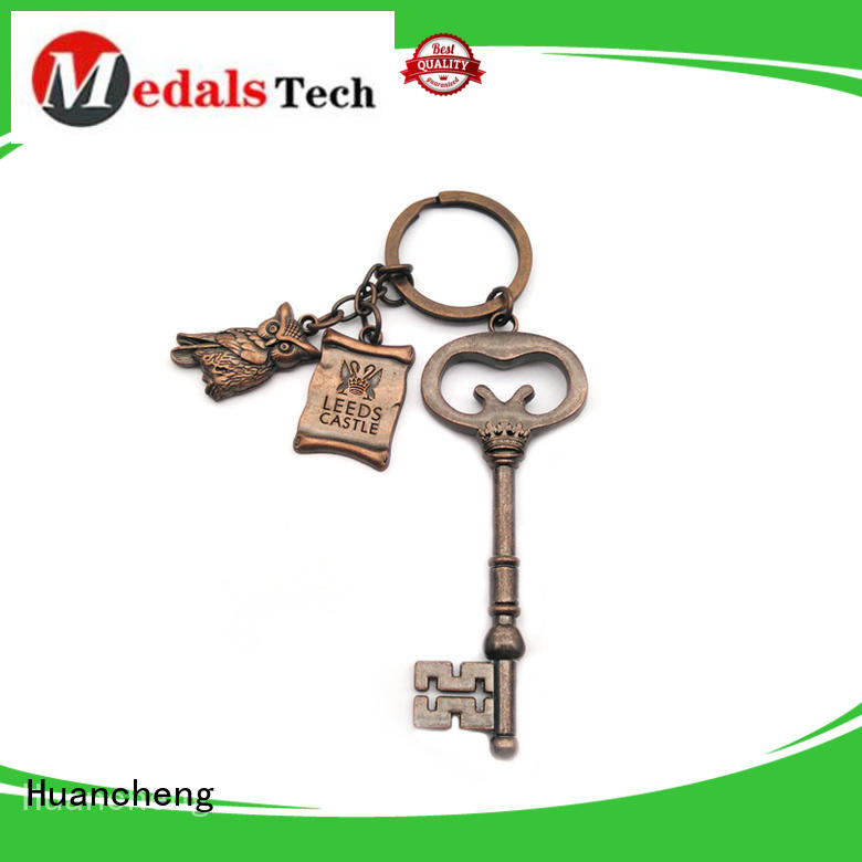 christmas gifts copper promotional name keychains Huancheng