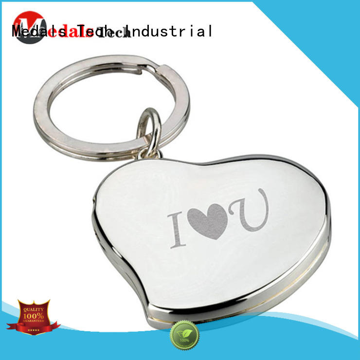 Medals Tech plated custom logo keychains from China for adults