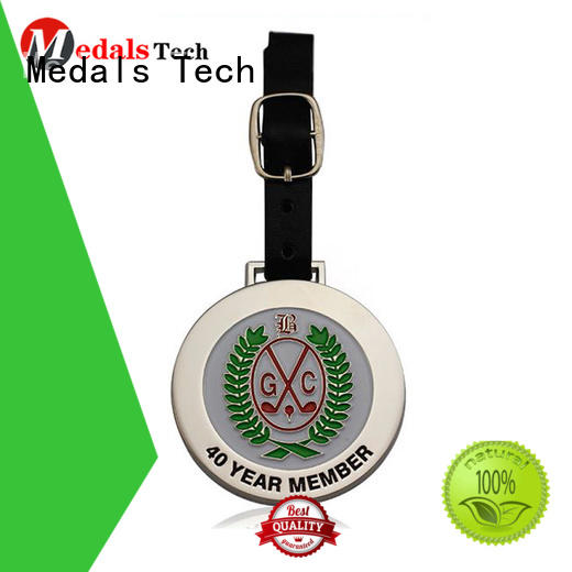 enamel custom golf bag tags personalized for adults