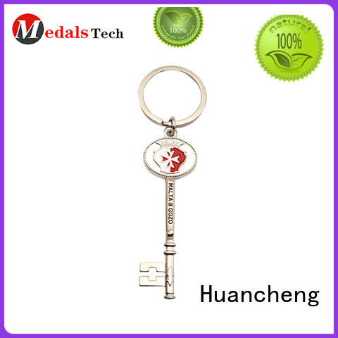 Huancheng Brand promotion antique home keychain metal logo supplier
