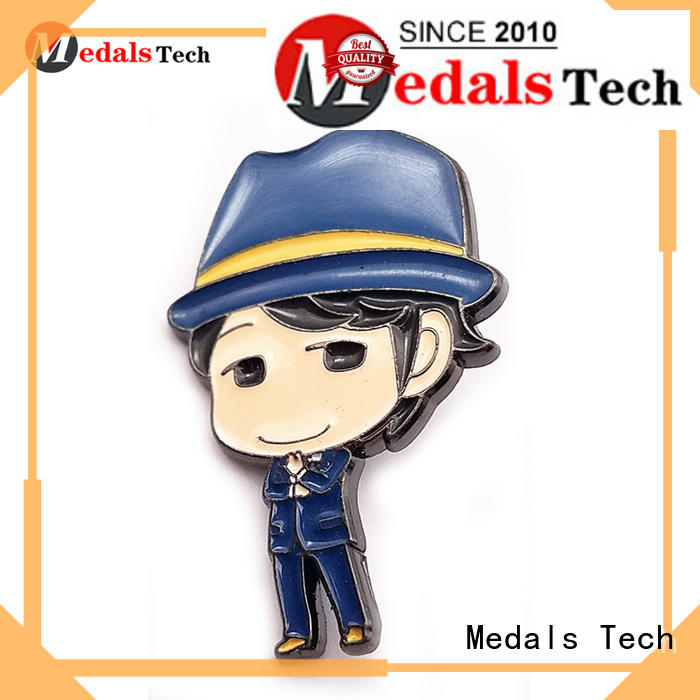 Medals Tech plated cool lapel pins design for woman