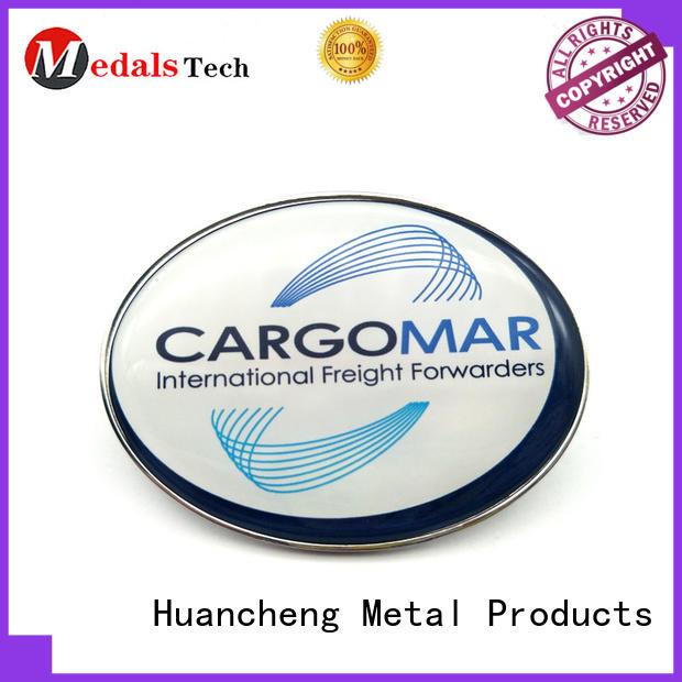 Huancheng Brand Silver Bronze aluminium nameplate