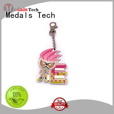 Medals Tech plated custom logo keychains manufacturer for add on sale