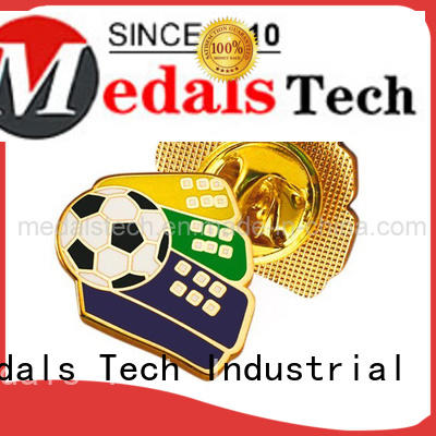 Medals Tech round mens suit pins with good price for woman