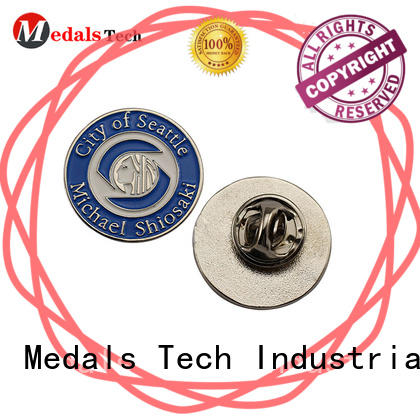 Medals Tech matel custom lapel pins cheap inquire now for add on sale