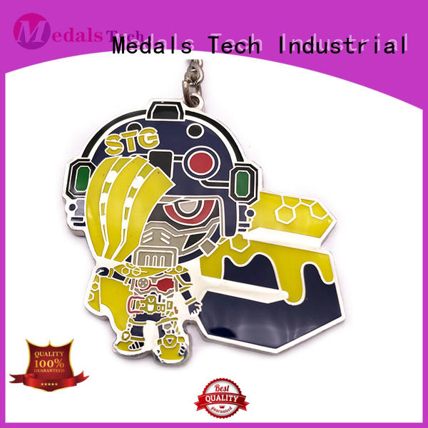 Medals Tech plated novelty keyrings series for woman