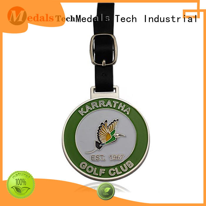 Medals Tech gold personalized golf bag tags directly sale for man