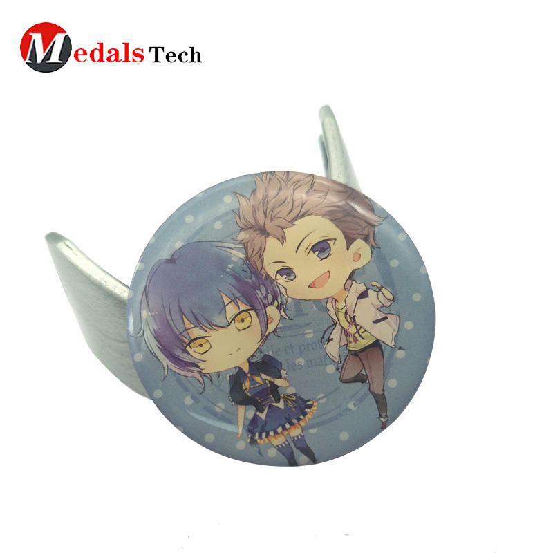 Offset printed stainless iron custom lapel pin with japanese cartoon image