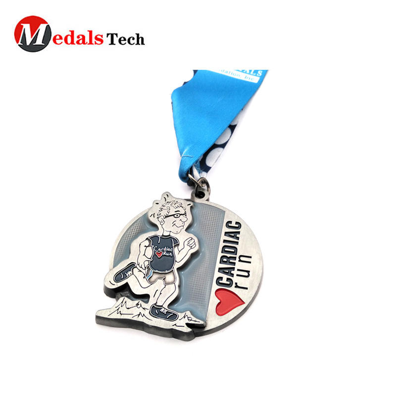 Factory sale custom metal cheap medals with ribbon