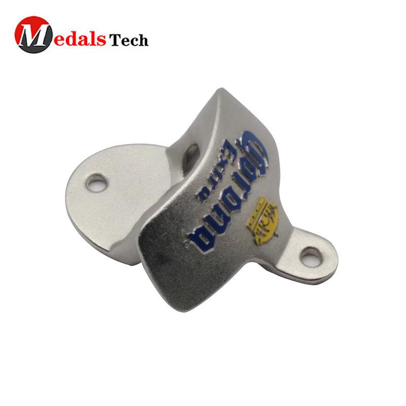Custom metal wall mounted beer bottle opener