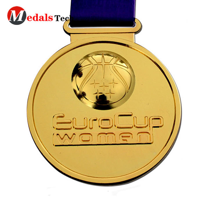 Promotional gold plated souvenir event metal medal