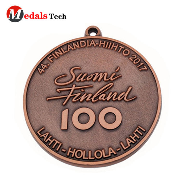 Factory price antique plated hollow out metal medal