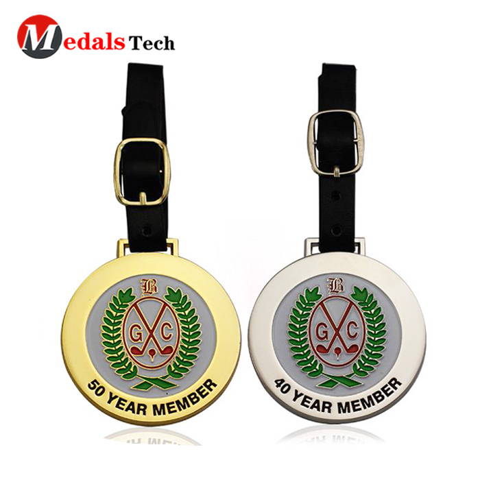 Medals Tech shinny personalized golf bag tags series for man-4