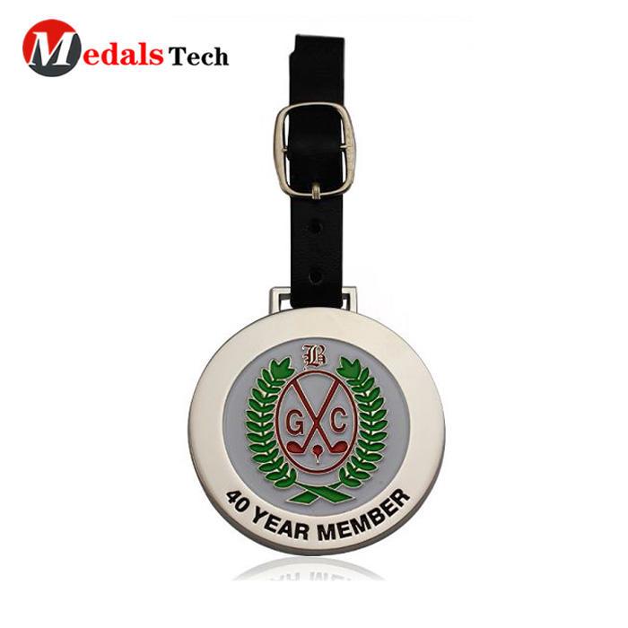Hot selling custom soft enamel souvenir metal golf bag tag