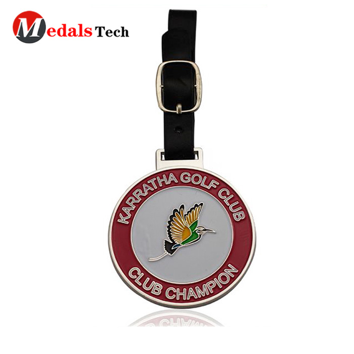 embossed golf bag tag filled directly sale for add on sale-4