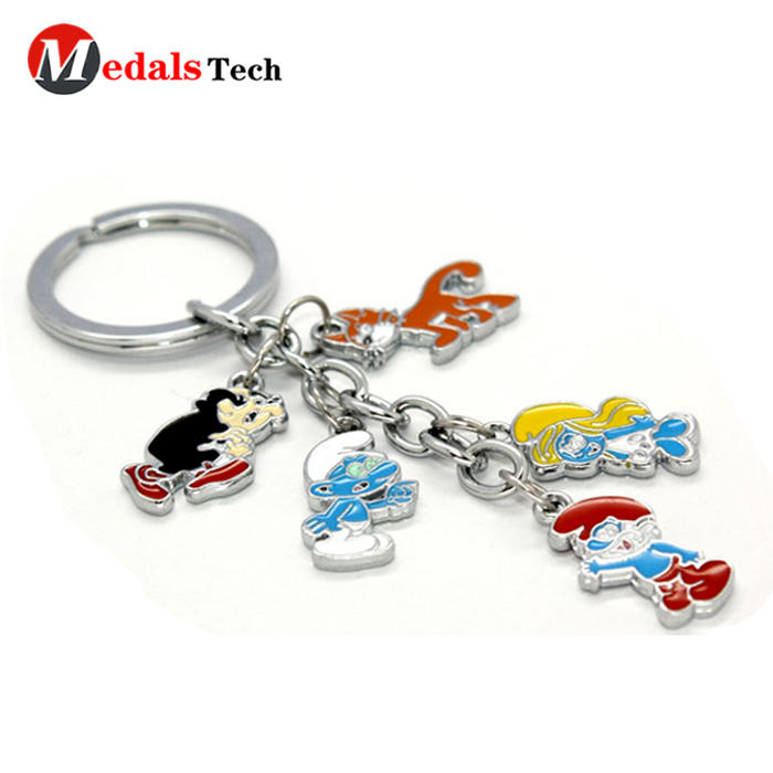Factory wholesale custom heart shape photo frames keychain