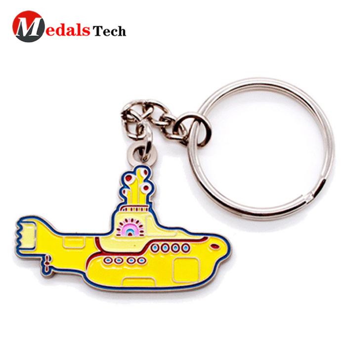 metal leather keychain running from China for souvenir-4