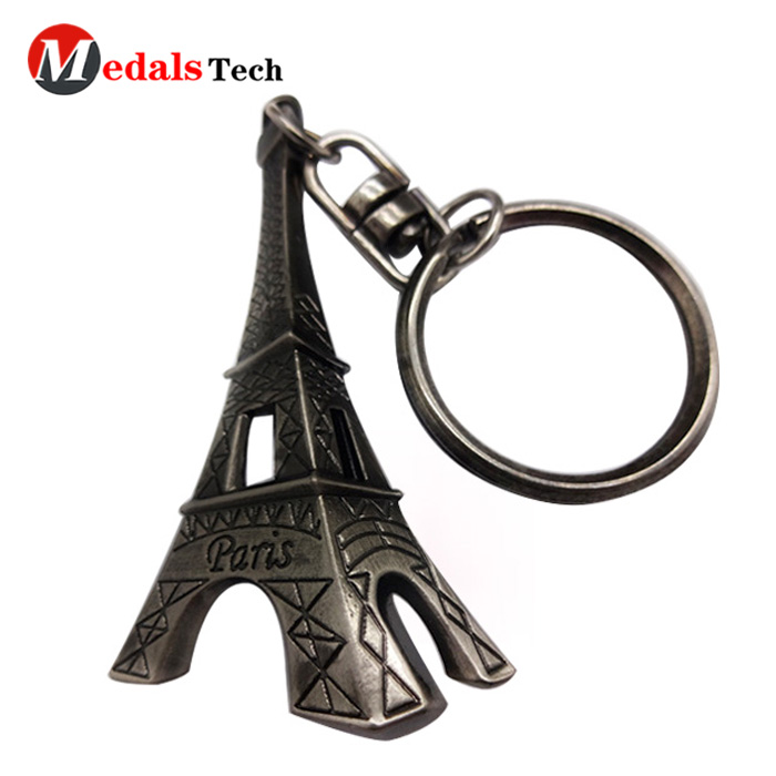 metal leather keychain running from China for souvenir-5