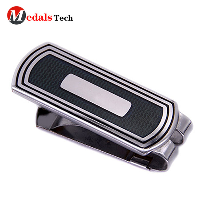 Medals Tech alloy small money clip wallet with good price for woman-5