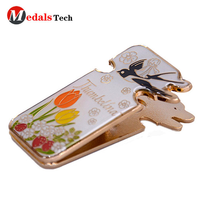 Medals Tech alloy small money clip wallet with good price for woman