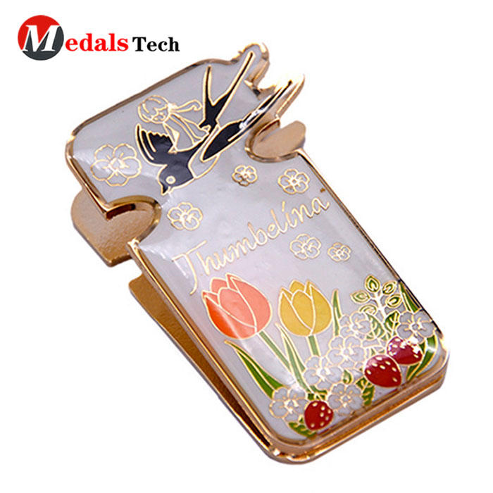 Wholesale gold plating metal epoxy coated money clips