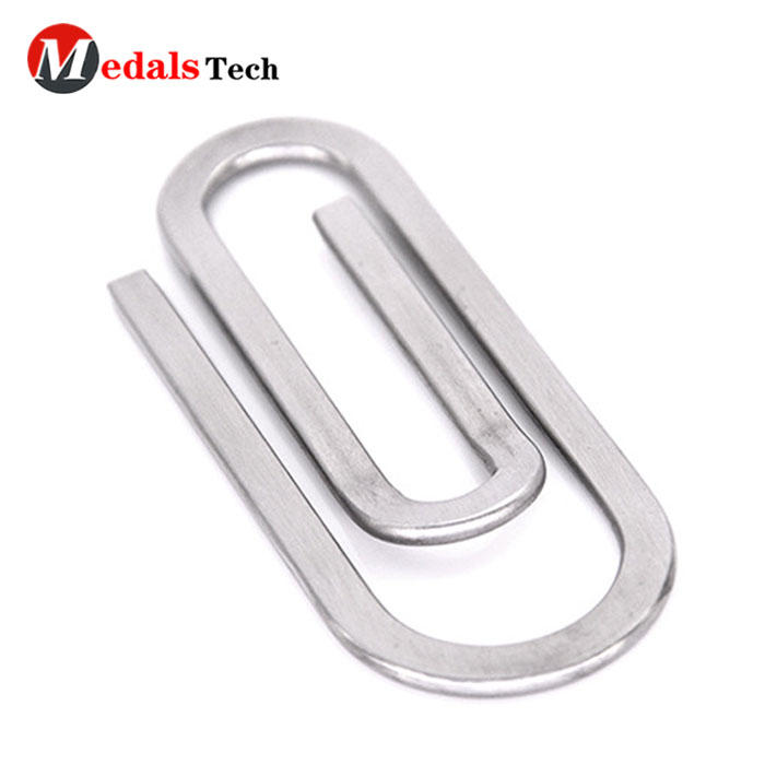 Hot selling new style shinny silver hollow out money clip