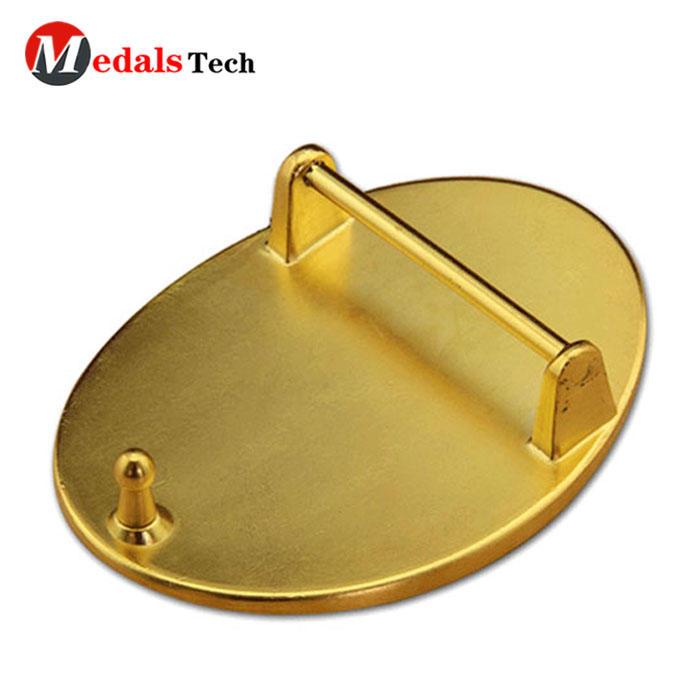 High quality safe clip shinny gold metal belt buckles