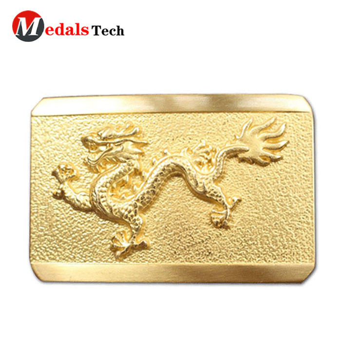 New style embossed logo sandblast metal belt buckles