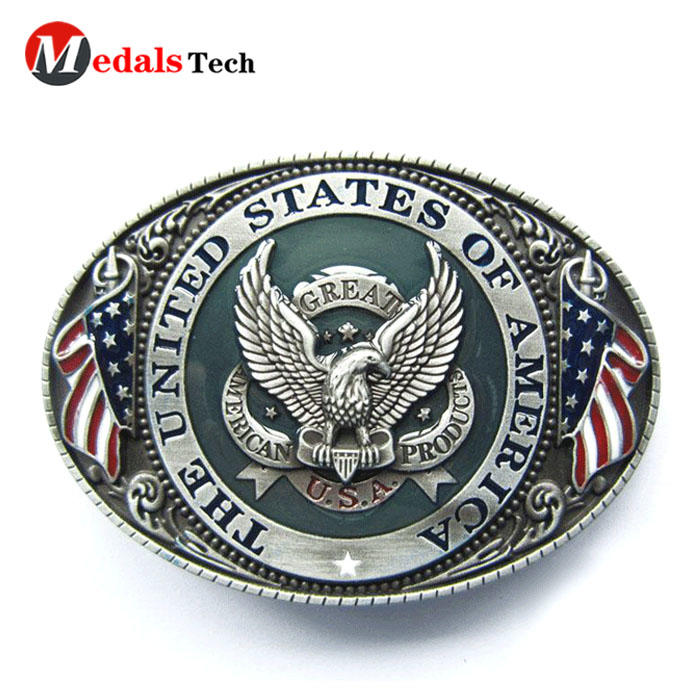 High quality metal military national flag belt buckles for sale