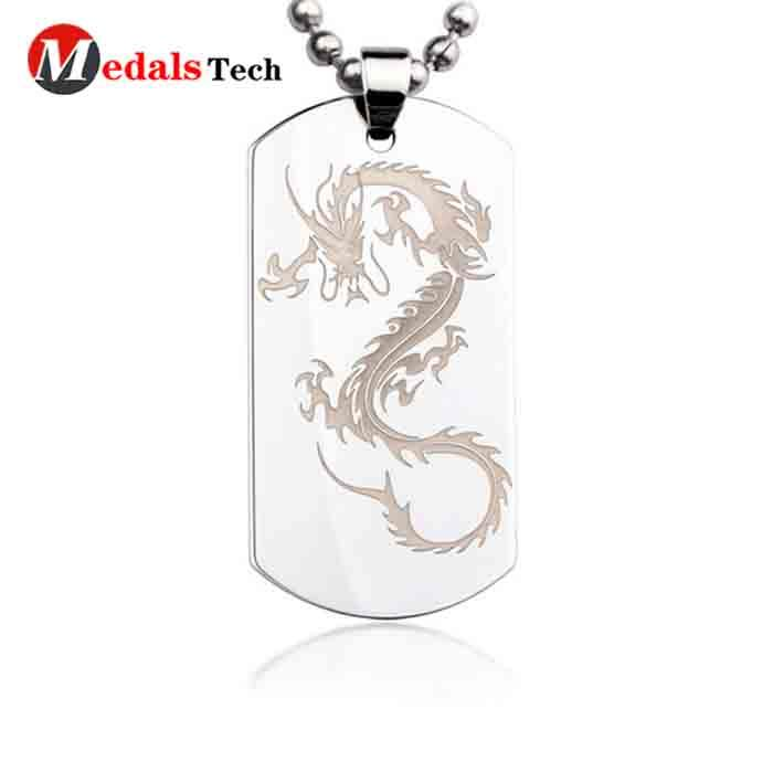 metal engraved dog id tags silver manufacturer for add on sale