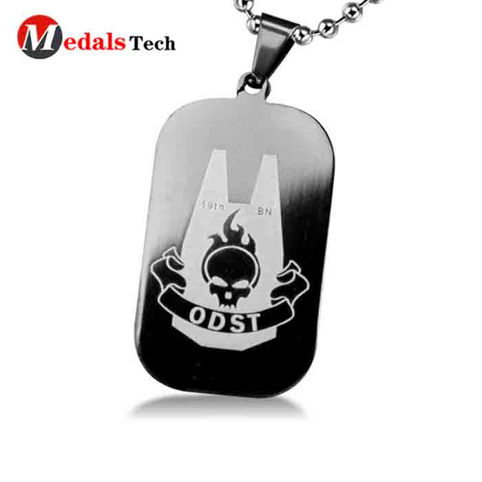 metal engraved dog id tags silver manufacturer for add on sale-4