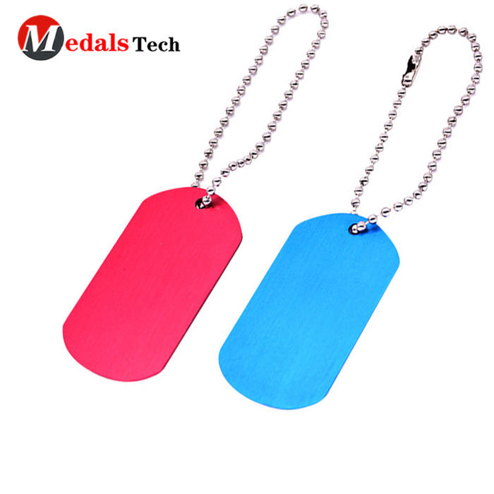 High quality custom stainless steel spray dog tag with ball chain