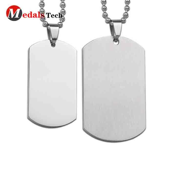 Factory direct sale metal blank polishing military dog tag
